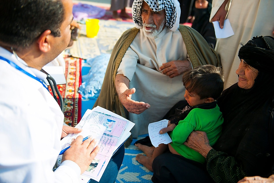 Al Thagher Mobile Clinic project, in Beit Ufi village, Iraq