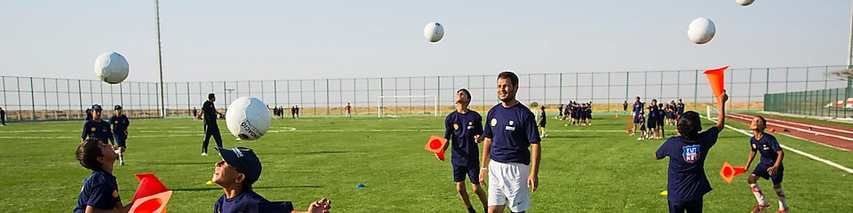 Futbol Net program supported by Shell and Barcelona Football Club Foundation